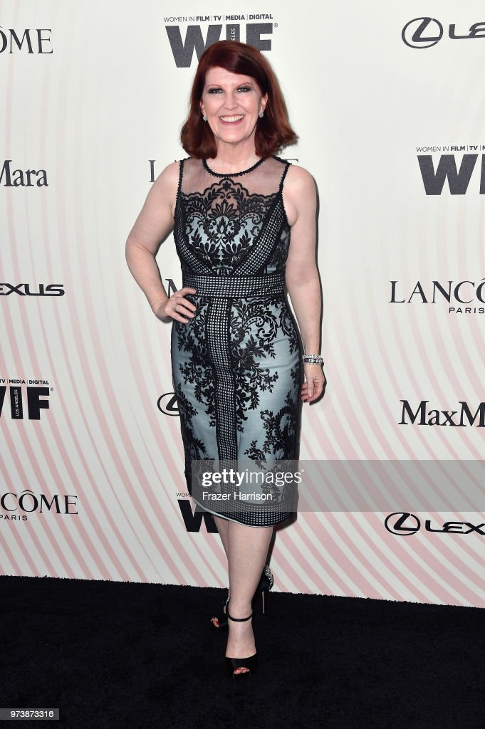Kate Flannery attends the Women In Film 2018 Crystal + Lucy Awards presented by Max Mara, Lancôme and Lexus at The Beverly Hilton Hotel on June 13, 2018 in Beverly Hills, California.