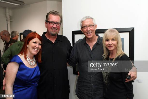 Kate Flannery Chris Haston Fritz Coleman and Suzanne Battaglia attend the Riding With Mary art show held at The Complex on September 27 2008 in Los...