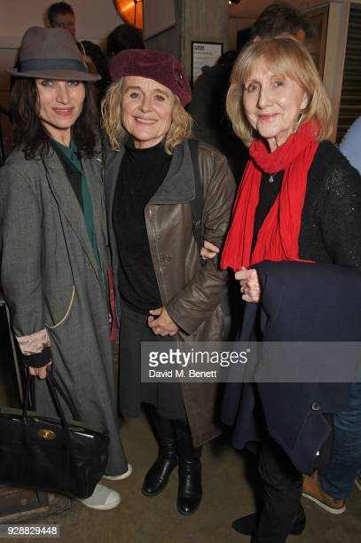 Kate Fleetwood Sinead Cusack and Pamela Miles attend the press night after party for Summer And Smoke at The Almeida Theatre on March 7 2018 in...
