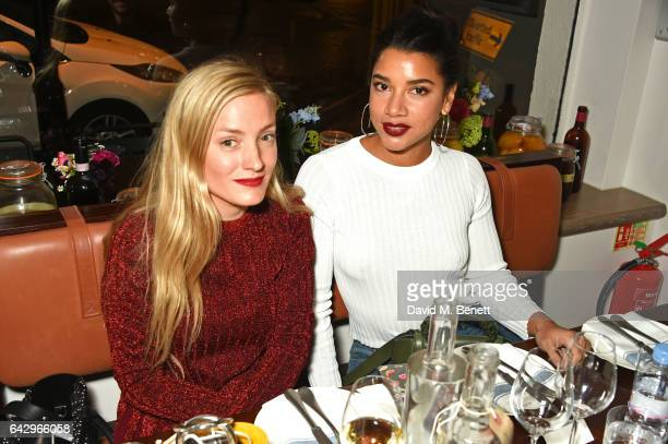 Kate Foley and Hannah Bronfman arrive as Topshop and Leandra Medine host dinner to celebrate London Fashion Week on February 19 2017 in London England