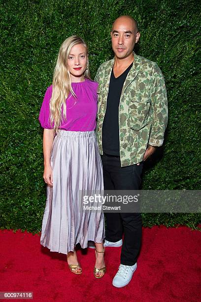 Kate Foley and Max Osterweis attend the Saks Downtown x Vogue event at Saks Downtown on September 8 2016 in New York City