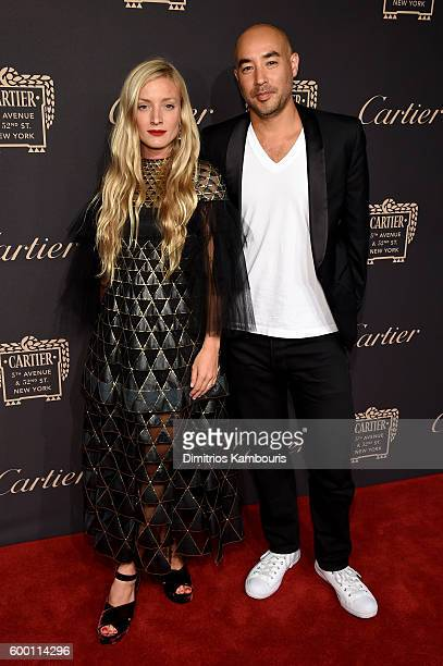 Kate Foley and Max Osterweis attends the Cartier Fifth Avenue Grand Reopening Event at the Cartier Mansion on September 7 2016 in New York City