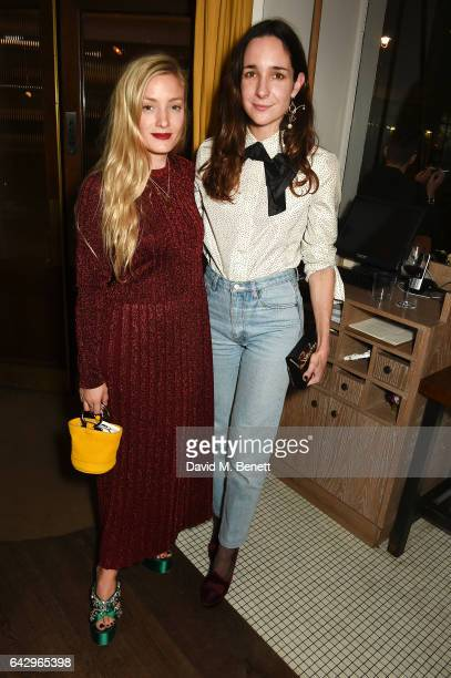 Kate Foley and Serafina Sama arrive as Topshop and Leandra Medine host dinner to celebrate London Fashion Week on February 19 2017 in London England