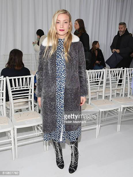 Kate Foley attends Delpozo during Fall 2016 New York Fashion Week at Pier 59 Studios on February 17, 2016 in New York City.