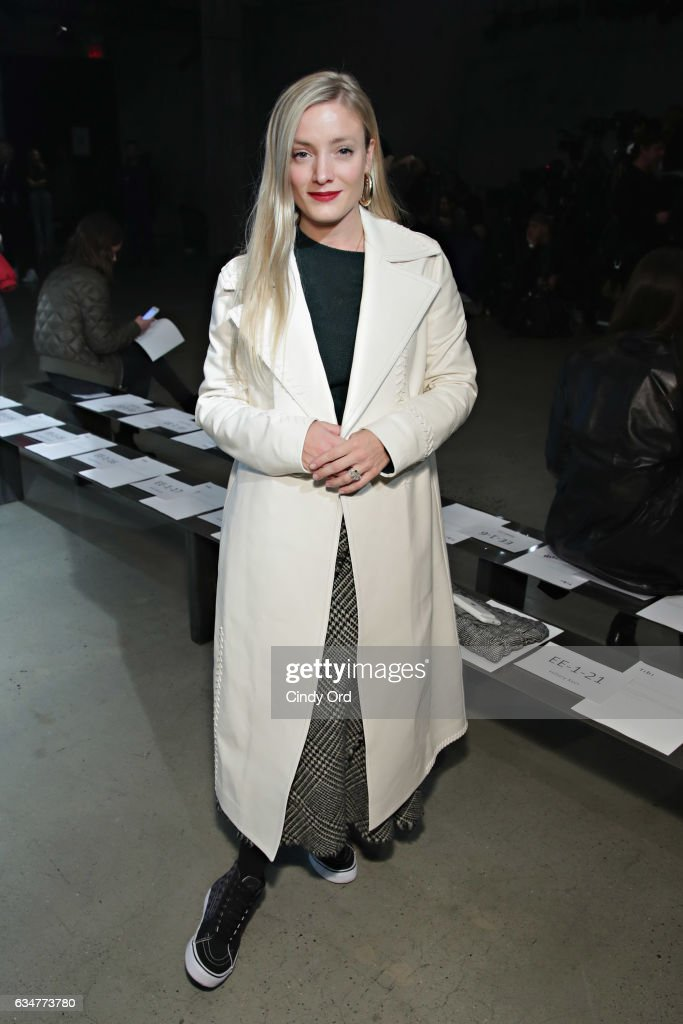 Kate Foley attends the Tibi fashion show during New York Fashion Week on February 11, 2017 in New York City.