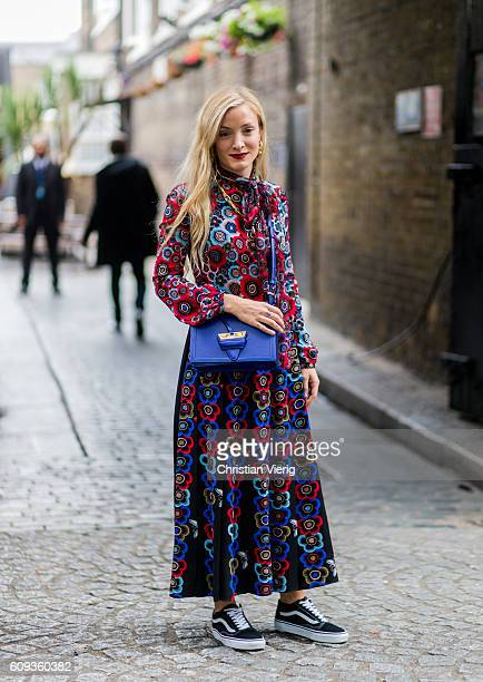 Kate Foley outside Marques Almeida during London Fashion Week Spring/Summer collections 2017 on September 20 2016 in London United Kingdom