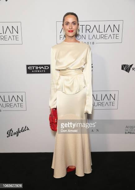 Kate Fowler poses at the 2018 Australian Fashion Laureate Awards on November 20 2018 in Sydney Australia