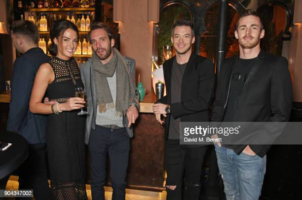 Kate Freer FIA Formula E racing drivers JeanEric Vergne Andre Lotterer and James Rossiter attend Orlando Bloom's birthday party with ABB FIA Formula...
