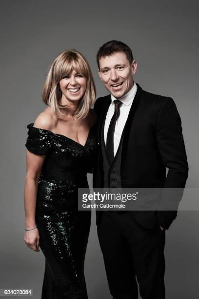 Kate Garraway and Ben Shephard attend the National Television Awards Portrait Studio at The O2 Arena on January 25 2017 in London England