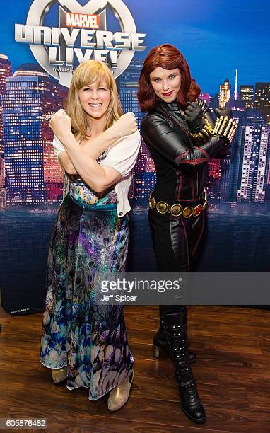 Kate Garraway and Black Widow attend the opening night of Marvel Universe LIVE At The O2 in London where they experienced an epic live entertainment...