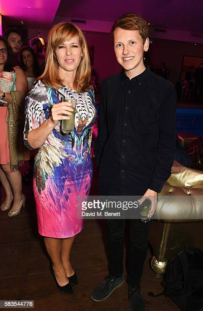 Kate Garraway and Howell Davies attend the press night after party for 'Breakfast at Tiffany's' at the The Haymarket Hotel on July 26 2016 in London...