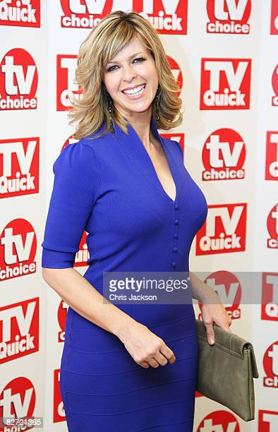 Kate Garraway arrives at the TV Quick and TV Choice Awards at the Dorchester on September 8 2008 in London England
