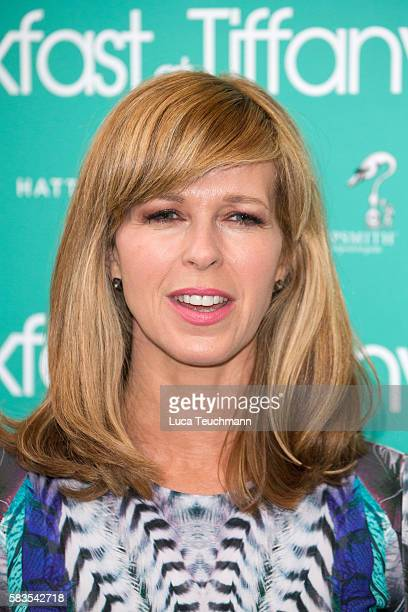 Kate Garraway arrives for the opening night of Breakfast at Tiffany at Theatre Royal on July 26 2016 in London England