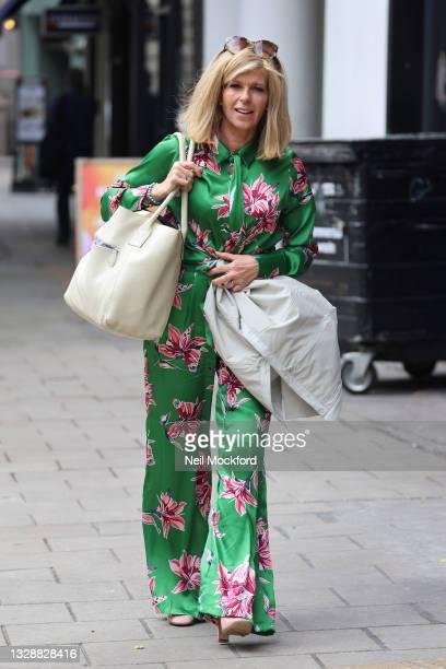 Kate Garraway arriving at Smooth Radio Studios on July 15, 2021 in London, England.