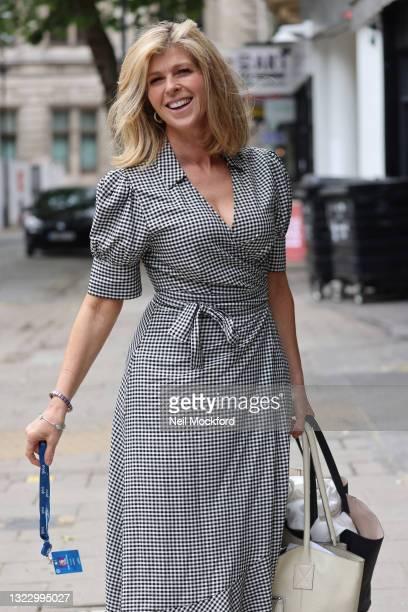 Kate Garraway arriving at Smooth Radio Studios on June 11, 2021 in London, England.