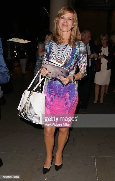 Kate Garraway attending the 'Breakfast at Tiffany's' play press night at the Theatre Royal Haymarket on July 26 2016 in London England