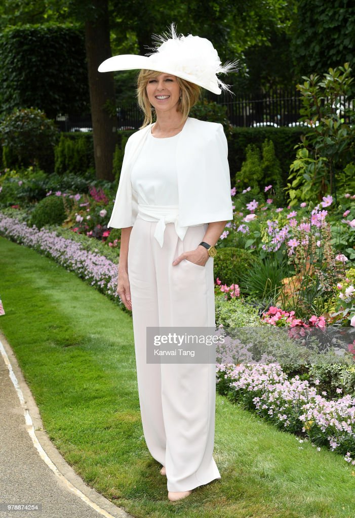 Kate Garraway attends Royal Ascot Day 1 at Ascot Racecourse on June 19, 2018 in Ascot, United Kingdom.
