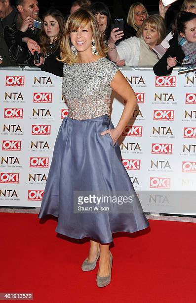 Kate Garraway attends the National Television Awards at 02 Arena on January 21 2015 in London England