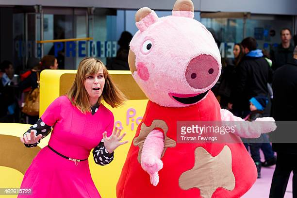 Kate Garraway attends the premeire of 'Peppa Pig The Golden Boots' at Odeon Leicester Square on February 1 2015 in London England