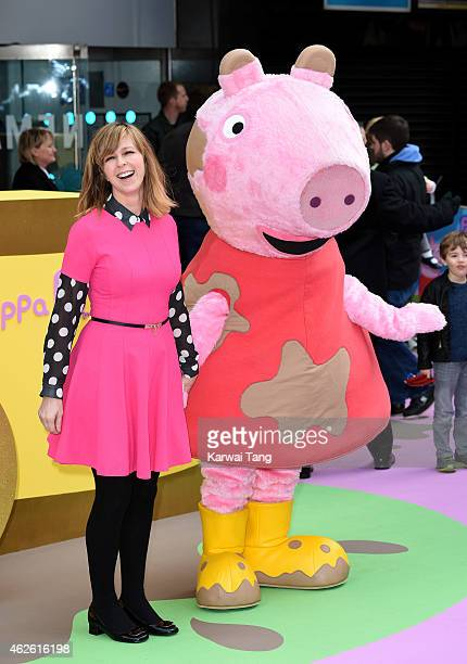 Kate Garraway attends the UK premiere of Peppa Pig The Golden Boots at Odeon Leicester Square on February 1 2015 in London England