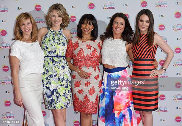 Kate Garraway Charlotte Hawkins Ranvir Singh Susanna Reid and Laura Tobin attend Lorraine's High Street Fashion Awards at Grand Connaught Rooms on...
