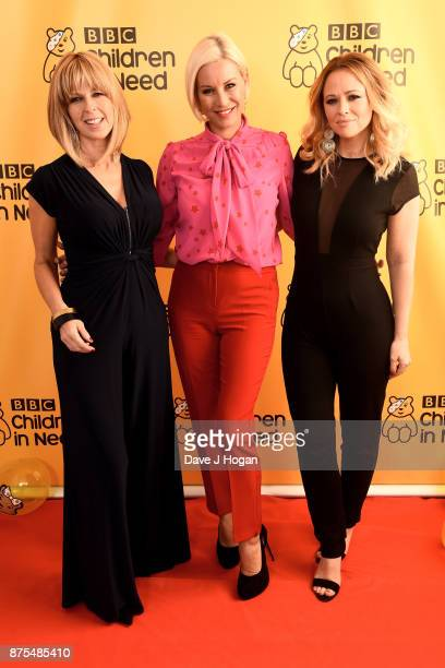 Kate Garraway Denise van Outen and Kimberley Walsh show support for BBC Children in Need at Elstree Studios on November 17 2017 in Borehamwood England