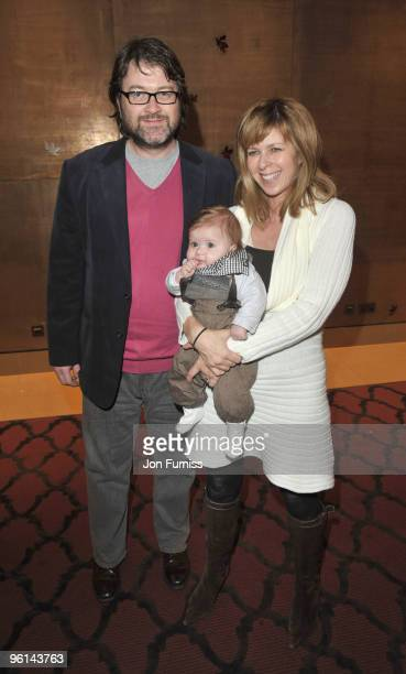 Kate Garraway her husband Derek Draper and their son Billy attends The Princess And The Frog special event at The Mayfair Hotel on January 24 2010 in...