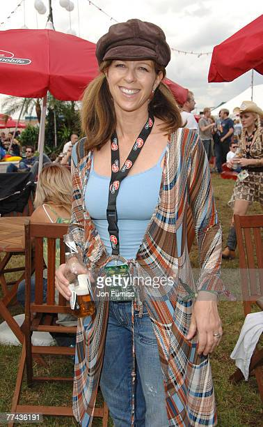 Kate Garraway in the Virgin Mobile Louder Lounge at the V Festival