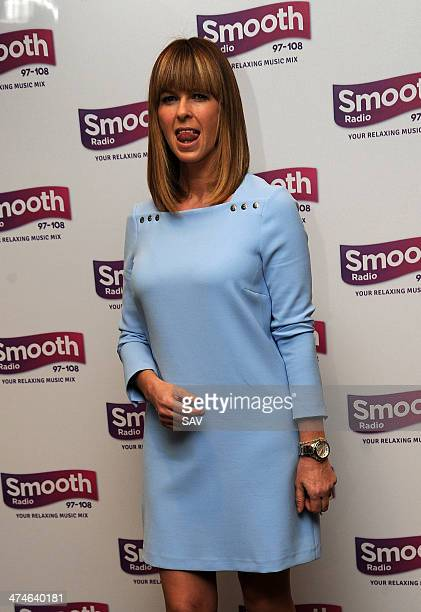Kate Garraway is announced as new presenter on Global's Smooth Radio at Global Radio Studios on February 24 2014 in London England