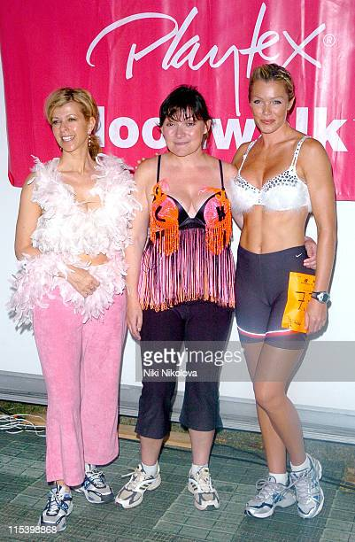 Kate Garraway Lorraine Kelly and Nell McAndrew during The Playtex Moonwalk at Hyde Park in London Great Britain