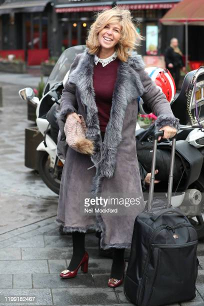 Kate Garraway seen arriving at Smooth Radio Studios after revealing that her husband Derek Draper had proposed to her for a second time on her...