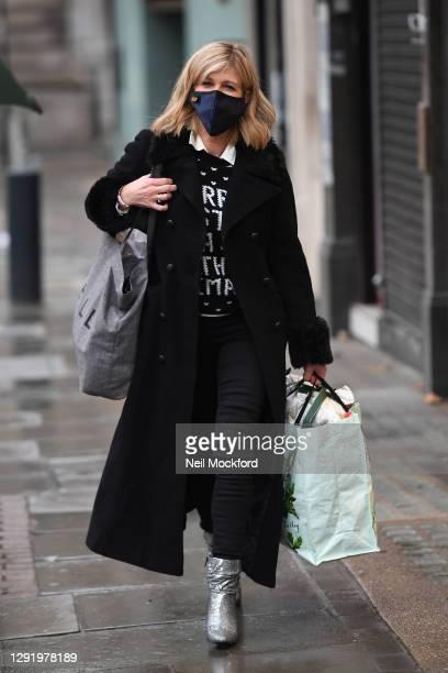 Kate Garraway seen arriving at Smooth Radio Studios on December 18, 2020 in London, England.