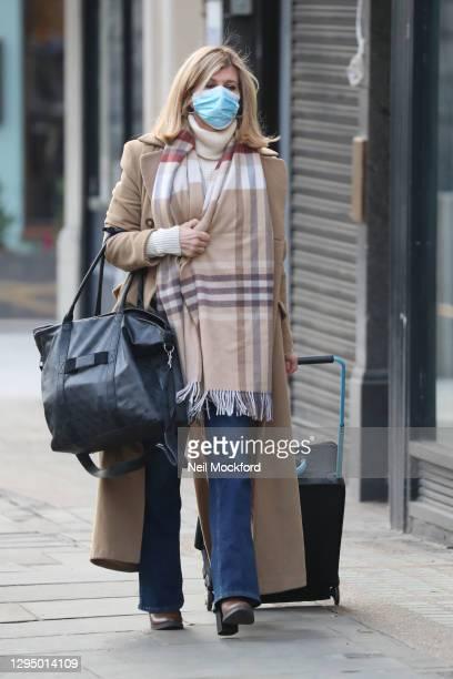 Kate Garraway seen arriving at Smooth Radio Studios on January 07, 2021 in London, England.