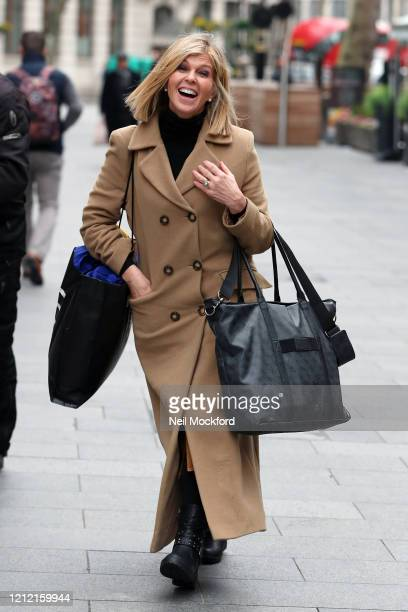 Kate Garraway seen arriving at Smooth Radio Studios on March 13 2020 in London England