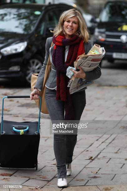 Kate Garraway seen arriving at Smooth Radio Studios on October 13 2020 in London England
