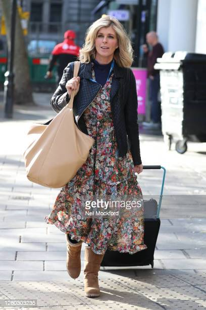 Kate Garraway seen arriving at Smooth Radio Studios on October 15 2020 in London England