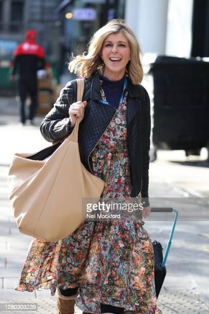 Kate Garraway seen arriving at Smooth Radio Studios on October 15 2020 in London England