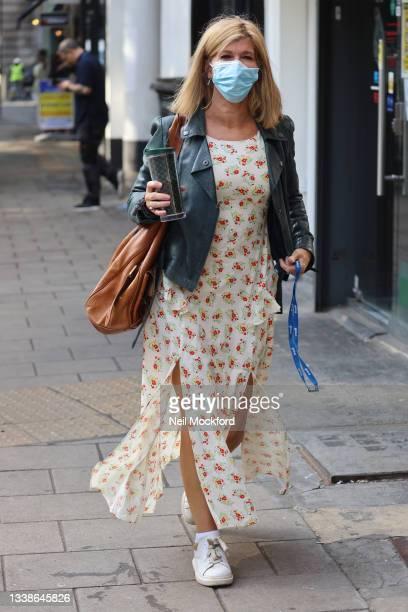 Kate Garraway seen arriving at Smooth Radio Studios on September 06, 2021 in London, England.