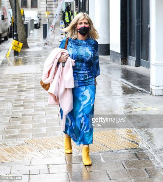 Kate Garraway seen arriving at the Global Radio on February 25, 2021 in London, England.