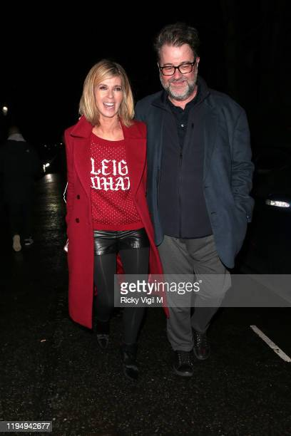 Kate Garraway seen attending Piers Morgan's Christmas party at Scarsdale Tavern on December 19 2019 in London England