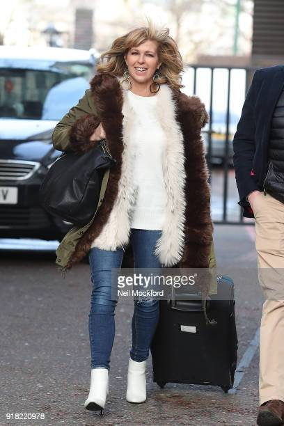 Kate Garraway seen leaving the ITV Studios on February 14 2018 in London England