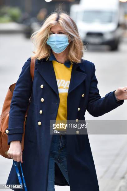 Kate Garraway sighting on February 22, 2021 in London, England.