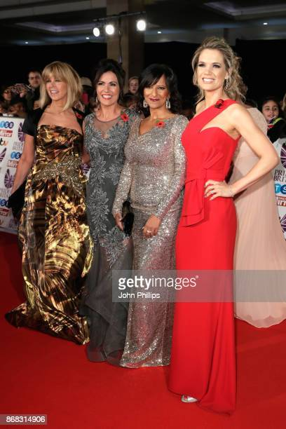 Kate Garraway Susanna Reid Ranvir Singh and Charlotte Hawkins attend the Pride Of Britain Awards at Grosvenor House on October 30 2017 in London...