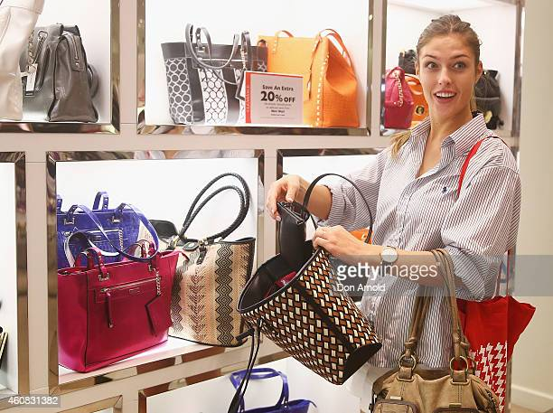 Kate Germolis of Sydney browses at handbags during the Boxing Day Sales at the David Jones Castlereagh St store on December 26 2014 in Sydney...