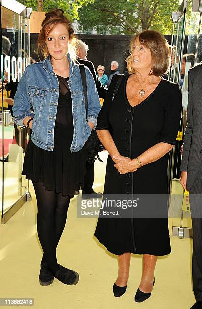 Kate Goldsmith and Lady Annabel Goldsmith attend the European Premiere of Fire in Babylon at Odeon Leicester Square on May 9 2011 in London England