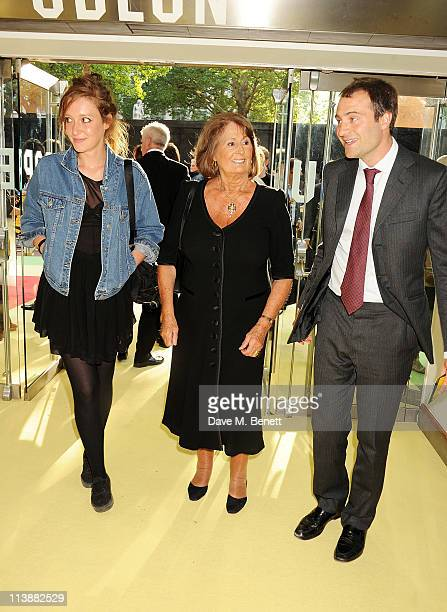 Kate Goldsmith Lady Annabel Goldsmith and Ben Goldsmith attend the European Premiere of Fire in Babylon at Odeon Leicester Square on May 9 2011 in...
