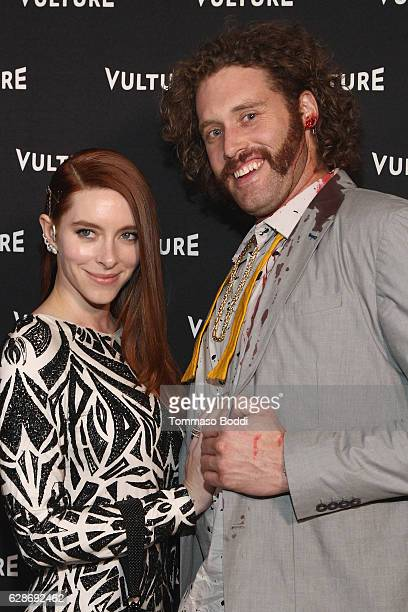 Kate Gorney and TJ Miller attend the Vulture Awards Season Party at Sunset Tower Hotel on December 8 2016 in West Hollywood California