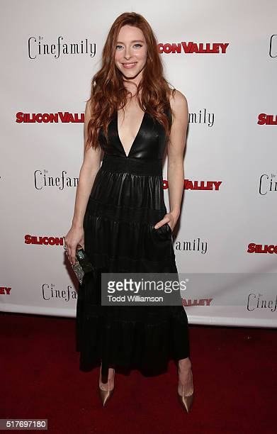 Kate Gorney attends the red carpet for a premiere of Scene 308 of HBO's 'Silicon Valley' at Cinefamily on March 25 2016 in Los Angeles California