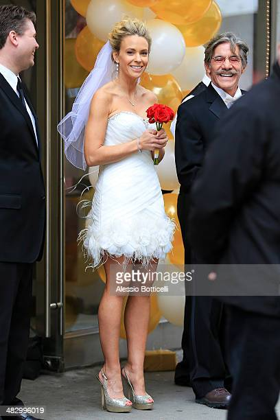 Kate Gosselin and Geraldo Rivera seen filming Celebrity Apprentice on April 5 2014 in New York City