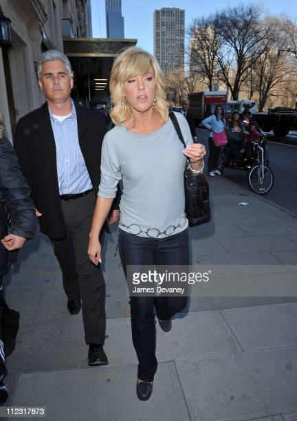 Kate Gosselin and her bodyguard Steve Neild leave after having lunch at Sarabeth's Central Park South on March 17 2010 in New York City
